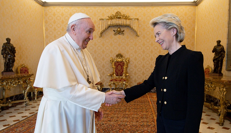 Przewodnicząca KE w Watykanie nadajemy na tych samych falach